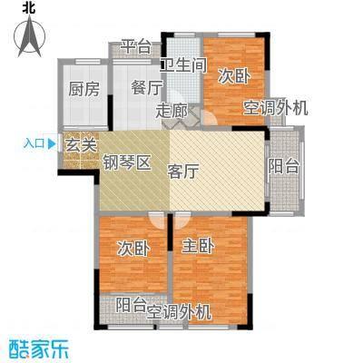 天淳江南131.00㎡一期1、3、5、7、8号楼标准层A2-4-1户型