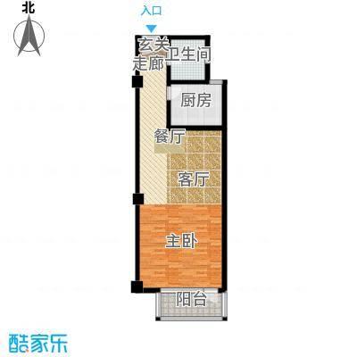 天淳江南79.00㎡一期综合01号楼标准层C1户型