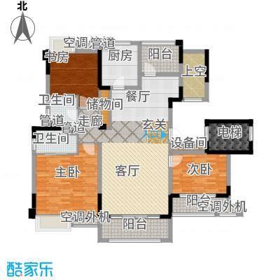 红豆香江豪庭137.00㎡一期1-5号楼标准层B1户型