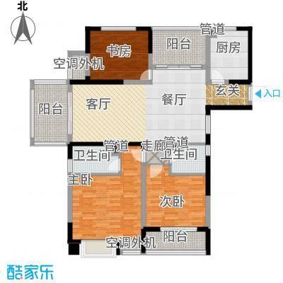 红豆香江豪庭125.00㎡一期1-5号楼标准层A1户型