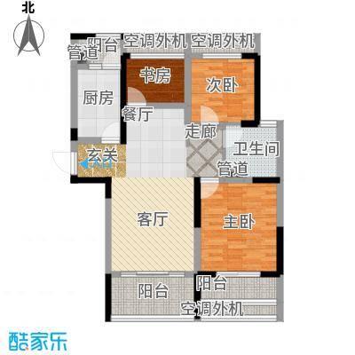 骋望七里楠花园93.00㎡一期3、11号楼标准层C户型
