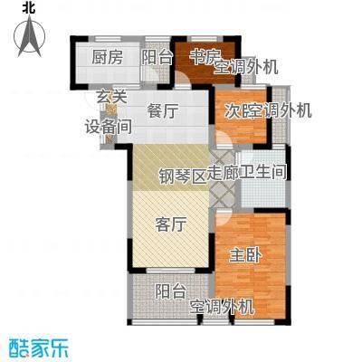 天淳江南111.49㎡二期2、4、6、9号楼标准层B2户型