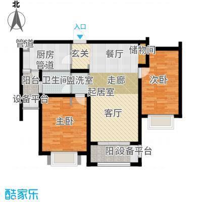 澜调国际95.00㎡5#、6#楼标准层C02户型