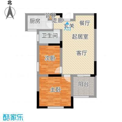 竹山华庭75.00㎡一期1、2号楼标准层A户型