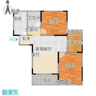 华菁水苑82.00㎡一期6-8#标准层C户型