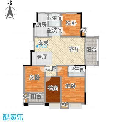 爱涛天岳城128.00㎡一期1、2、3、6、8号楼C户型