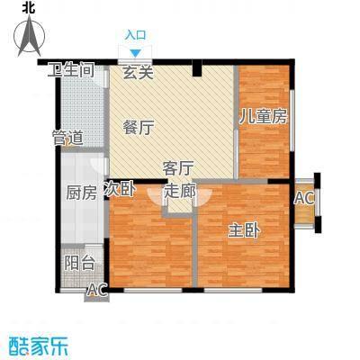 协众水岸风华104.00㎡一期17、18号楼标准层B2户型