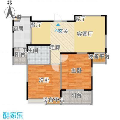 华菁水苑82.00㎡一期10-15号楼标准D户型