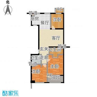 协众水岸风华119.00㎡一期19、20号楼标准层D3户型