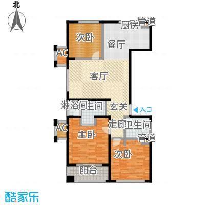 协众水岸风华123.00㎡一期19、20号楼标准层D1户型