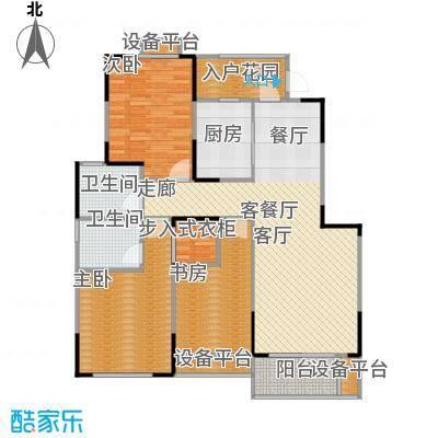 华菁水苑122.00㎡一期7号楼标准层E户型