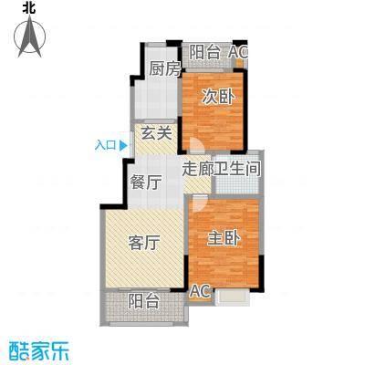 爱涛天岳城89.00㎡一期1、2、3、6、8号楼A户型