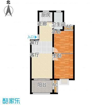 芳草名苑91.22㎡一期4栋1-5层B户型