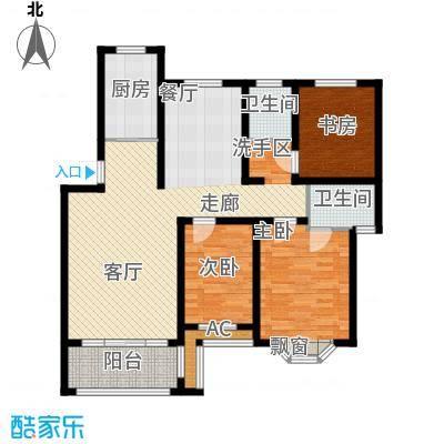 芳草名苑115.76㎡二期9栋2、3层D户型