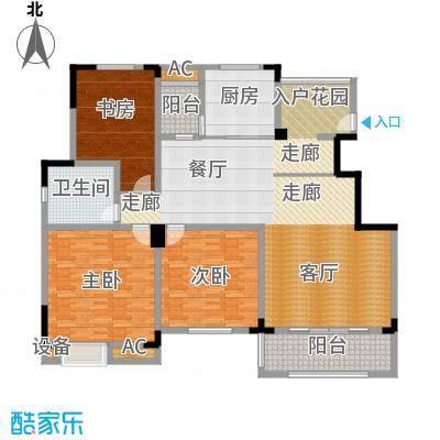 清香雅苑191.36㎡7号楼6层C11套型户型