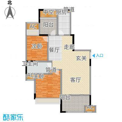 中宏万家广场110.00㎡一期1、2、4、8号楼标准层D户型