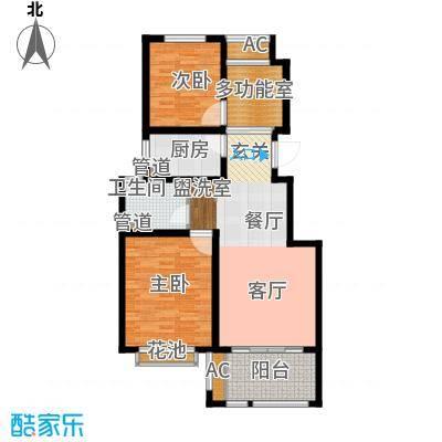 太湖相王府90.00㎡二期住宅B1户型