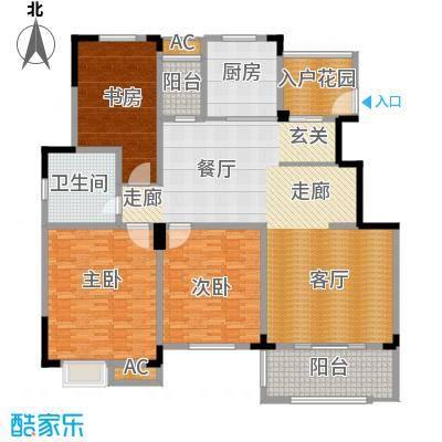 清香雅苑198.35㎡7号楼6层C21套型户型
