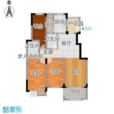 清香雅苑126.04㎡7号楼6层C1套型户型