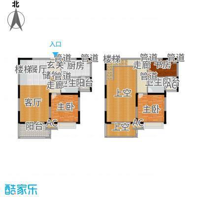 康利华府134.00㎡一期06幢标准层D1-2户型