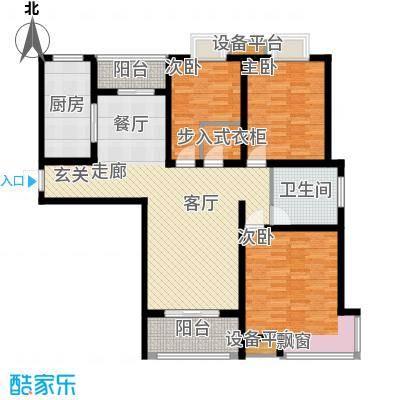天泽苑122.00㎡五期27-29号楼标准层D1户型