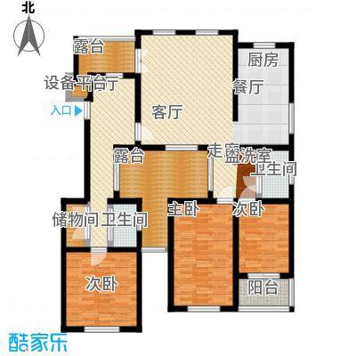 葵花社134.28㎡01、06、07幢标准层A户型