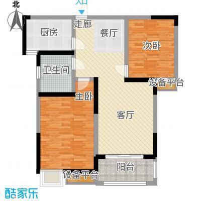 天泽苑86.00㎡五期27-29号楼标准层D2户型