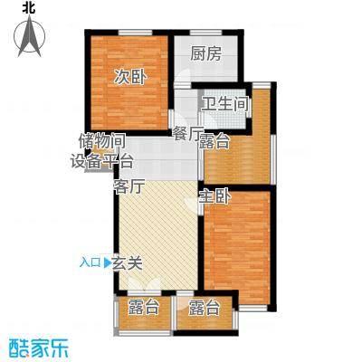 葵花社96.28㎡2、7号楼标准层B户型