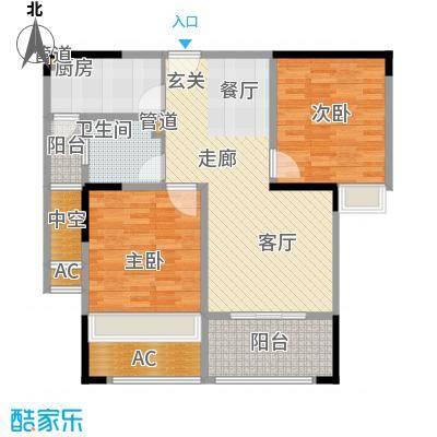 中宏万家广场95.00㎡一期1、6、7、9、10号楼标准层A户型