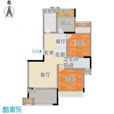 中宏万家广场104.00㎡一期2号楼标准层C户型