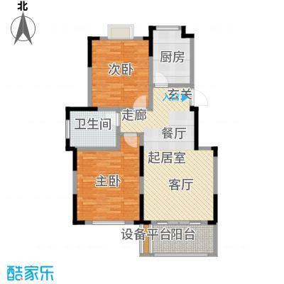 爱涛天逸园87.00㎡五期26栋标准层G2户型