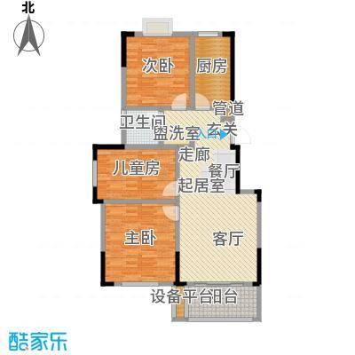 爱涛天逸园96.00㎡五期26栋标准层H2户型