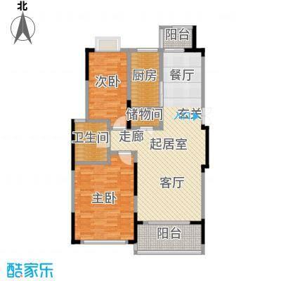 爱涛天逸园91.77㎡二期B户型