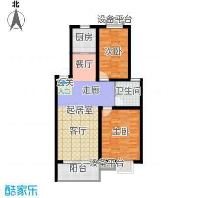 垠领城市街区87.32㎡二期24、25号楼标准层B户型