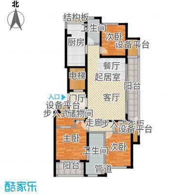 翠屏诚园139.00㎡一期6、7号楼标准层G户型