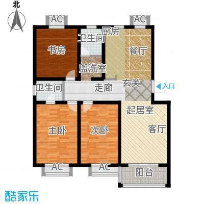 双富嘉园125.00㎡四期151、156、157号楼标准层A户型