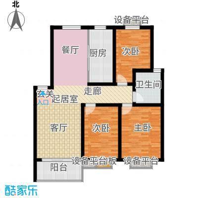 垠领城市街区109.02㎡一期1、3-5、7-10号楼标准层E户型