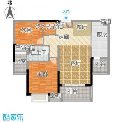 中海凤凰熙岸100.00㎡3期21栋标准层F户型