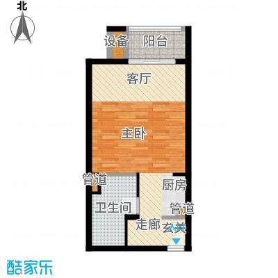 那香海国际旅游度假区48.28㎡二期22#、23#、35#、36#B2户型