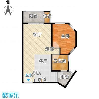 那香海国际旅游度假区113.00㎡一期1、6栋标准层B1户型