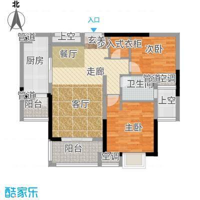 中海凤凰熙岸81.23㎡三期23号楼标准层H户型