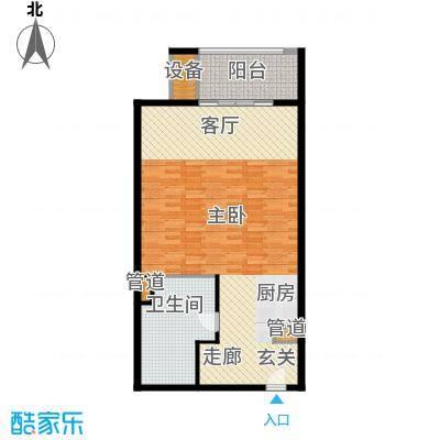 那香海国际旅游度假区87.00㎡一期2、7栋标准层B2户型