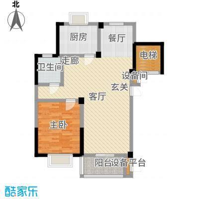 福基现代城92.56㎡一期1号楼2-11层B1-1户型
