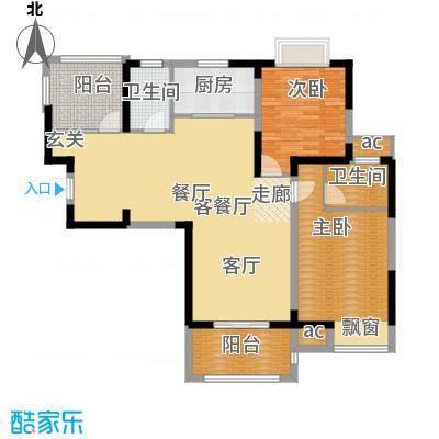 荣鼎幸福城110.77㎡一期标准层C户型