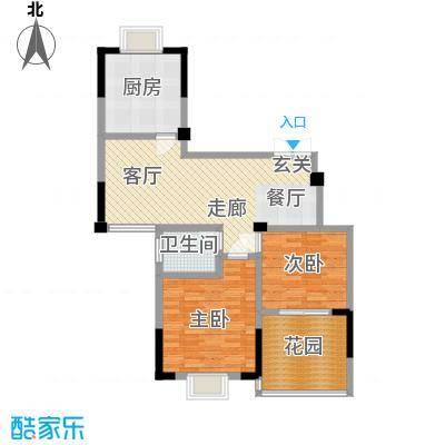 福基现代城89.14㎡一期14号楼一层B7-1户型