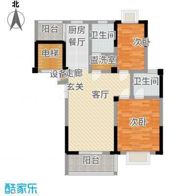福基现代城92.79㎡一期1号楼1-11层B1户型