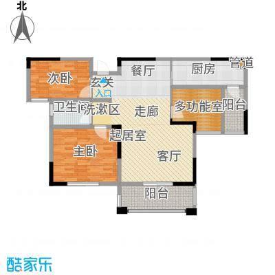北江锦城100.00㎡三期D03栋标准层Gb2户型