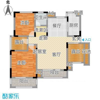 北江锦城99.03㎡花园洋房Hb1-5户型