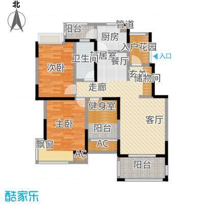 北江锦城101.95㎡小高层Xe户型