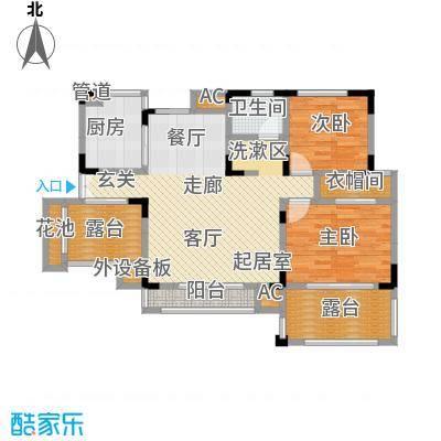 北江锦城96.79㎡花园洋房Hb2-5户型
